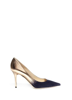 JIMMY CHOO 'Agnes' metallic leather suede degradé pumps