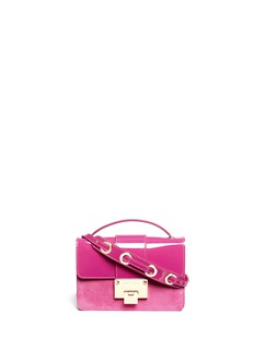 JIMMY CHOO 'Rebel' patent suede crossbody bag