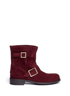 JIMMY CHOO'Youth' suede buckle boots