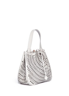 AZZEDINE ALAÏAPerforated leather bucket tote