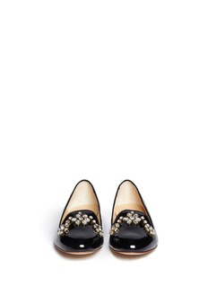 KATE SPADE'Pilar' jewel patent leather slip-ons