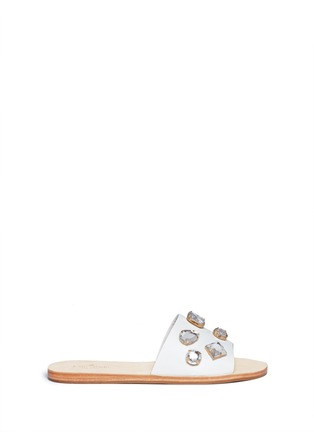 Main View - Click To Enlarge - Kate Spade - 'Avila' jewel leather sandals