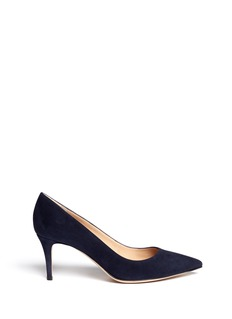 GIANVITO ROSSI Suede point toe pumps