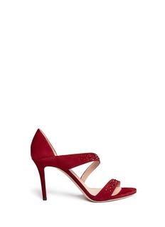 GIORGIO ARMANICrystal suede sandals