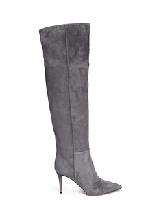 GIANVITO ROSSI Thigh high suede boots