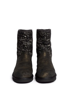 UGG AUSTRALIA'Lyla' sequin knit sheepskin boots