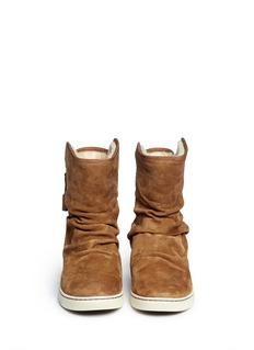UGG AUSTRALIA'Becky' zip suede boots