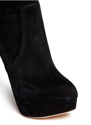 Detail View - Click To Enlarge - Charlotte Olympia - 'Thea' suede platform boots