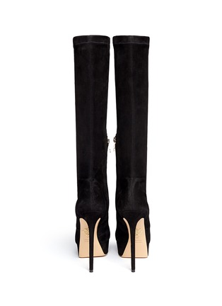 Back View - Click To Enlarge - Charlotte Olympia - 'Thea' suede platform boots