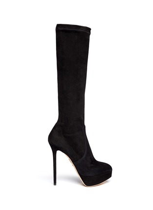 Main View - Click To Enlarge - Charlotte Olympia - 'Thea' suede platform boots