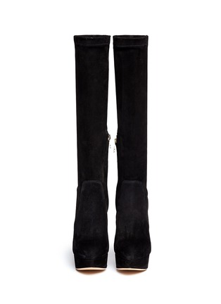 Figure View - Click To Enlarge - Charlotte Olympia - 'Thea' suede platform boots
