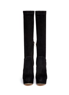 CHARLOTTE OLYMPIA'Thea' suede platform boots