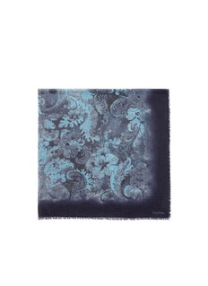 VALENTINODamask print cashmere scarf