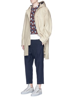 OAMC Windowpane check wool-cotton cropped drift pants