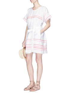 Lisa Marie Fernandez 'Fiesta' ricrac belted linen dress