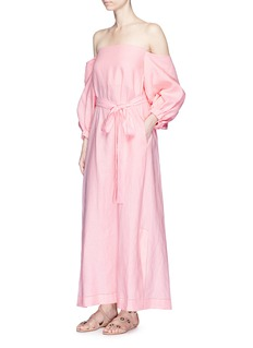 Lisa Marie Fernandez 'Rosie' off-shoulder belted linen maxi dress