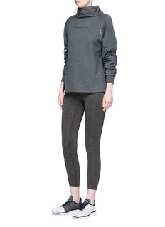 Particle FeverReflective lace-up cotton sweatshirt