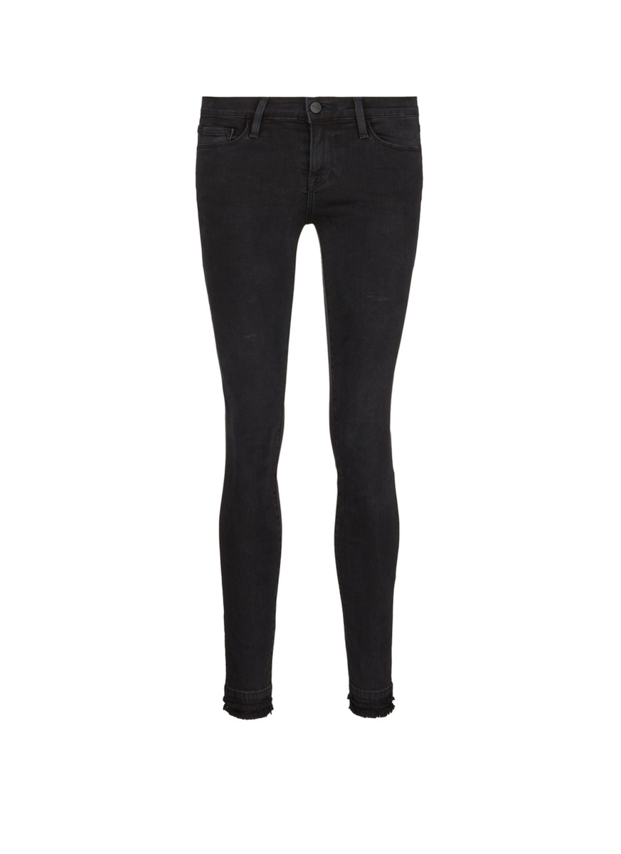 Le Skinny de Jeanne frayed cuff skinny jeans by Frame Denim