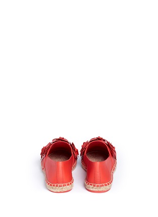 Back View - Click To Enlarge - Tory Burch - 'Blossom' floral leather espadrilles