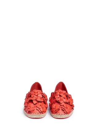 Front View - Click To Enlarge - Tory Burch - 'Blossom' floral leather espadrilles
