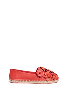Tory Burch'Blossom' floral leather espadrilles