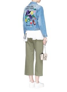 Muveil'Swilling Fruit Wine' embellished embroidery denim jacket