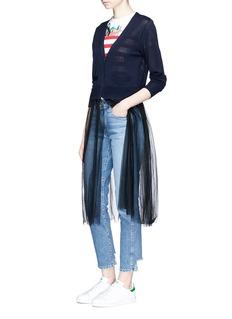 MuveilExtended tulle skirt cardigan