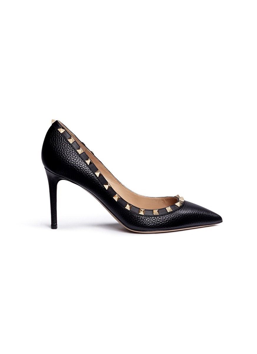 Rockstud calfskin leather pumps by Valentino