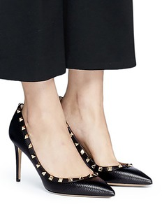 Valentino 'Rockstud' calfskin leather pumps