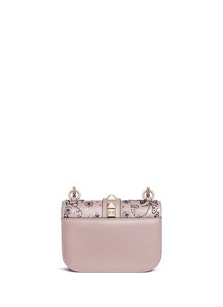 Detail View - Click To Enlarge - Valentino - 'Rockstud Lock' small sequin leaf shoulder bag