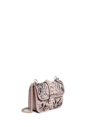 Figure View - Click To Enlarge - Valentino - 'Rockstud Lock' small sequin leaf shoulder bag