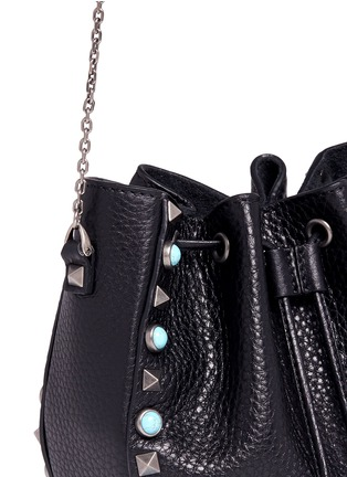 - Valentino - 'Native Couture' cabochon stud leather bucket bag