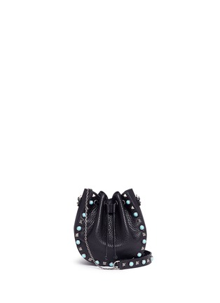 Main View - Click To Enlarge - Valentino - 'Native Couture' cabochon stud leather bucket bag