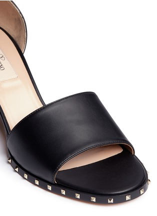 Detail View - Click To Enlarge - Valentino - 'Soul Rockstud' block heel leather sandals