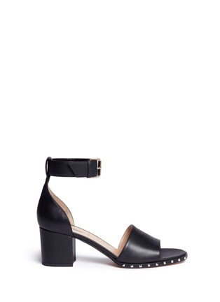 Main View - Click To Enlarge - Valentino - 'Soul Rockstud' block heel leather sandals