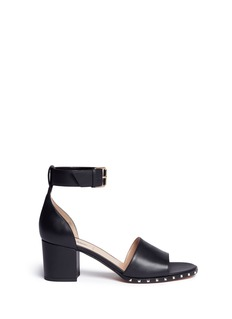 Valentino 'Soul Rockstud' block heel leather sandals