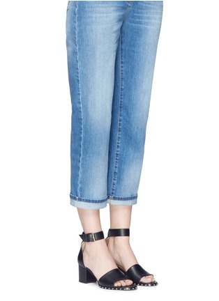 Figure View - Click To Enlarge - Valentino - 'Soul Rockstud' block heel leather sandals