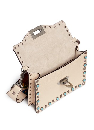 Detail View - Click To Enlarge - Valentino - 'Guitar Rockstud Rolling' cabochon stud leather bag