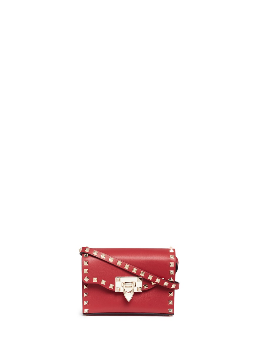 Rockstud small leather shoulder bag by Valentino