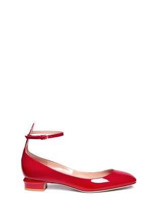 Valentino - 'Tan-Go' ankle strap patent leather pumps