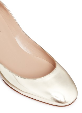 Detail View - Click To Enlarge - Valentino - 'Tan-Go' ankle strap mirror leather pumps