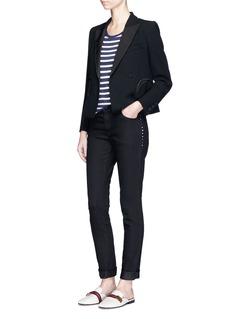 Blazé Milano'Spencer Cool & Easy' cropped wool blazer
