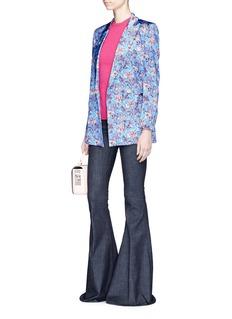 Blazé Milano'Everyday Mayflower Sky' silk satin blazer