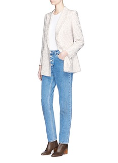Blazé Milano'Everyday Varenne Summer' leopard print silk blazer