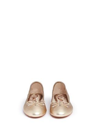 Front View - Click To Enlarge - Sam Edelman - 'Felicia' metallic leather ballet flats