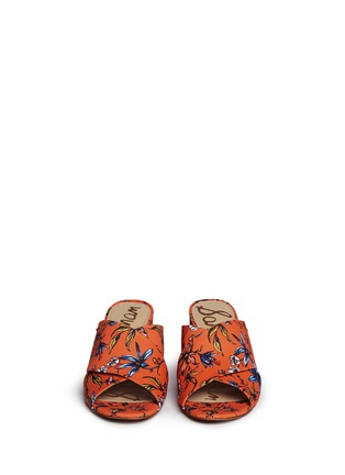 Front View - Click To Enlarge - Sam Edelman - 'Stanley' garden print cross vamp mules