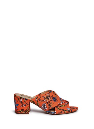 Main View - Click To Enlarge - Sam Edelman - 'Stanley' garden print cross vamp mules