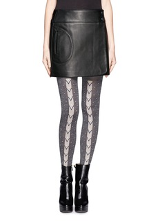 HANSEL FROM BASEL Chevron stripe dotted tights