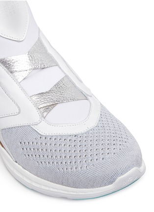 Detail View - Click To Enlarge - Athletic Propulsion Labs - 'Cielo' metallic leather trim Techloom sneakers