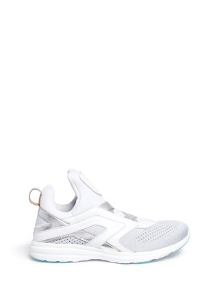 Main View - Click To Enlarge - Athletic Propulsion Labs - 'Cielo' metallic leather trim Techloom sneakers